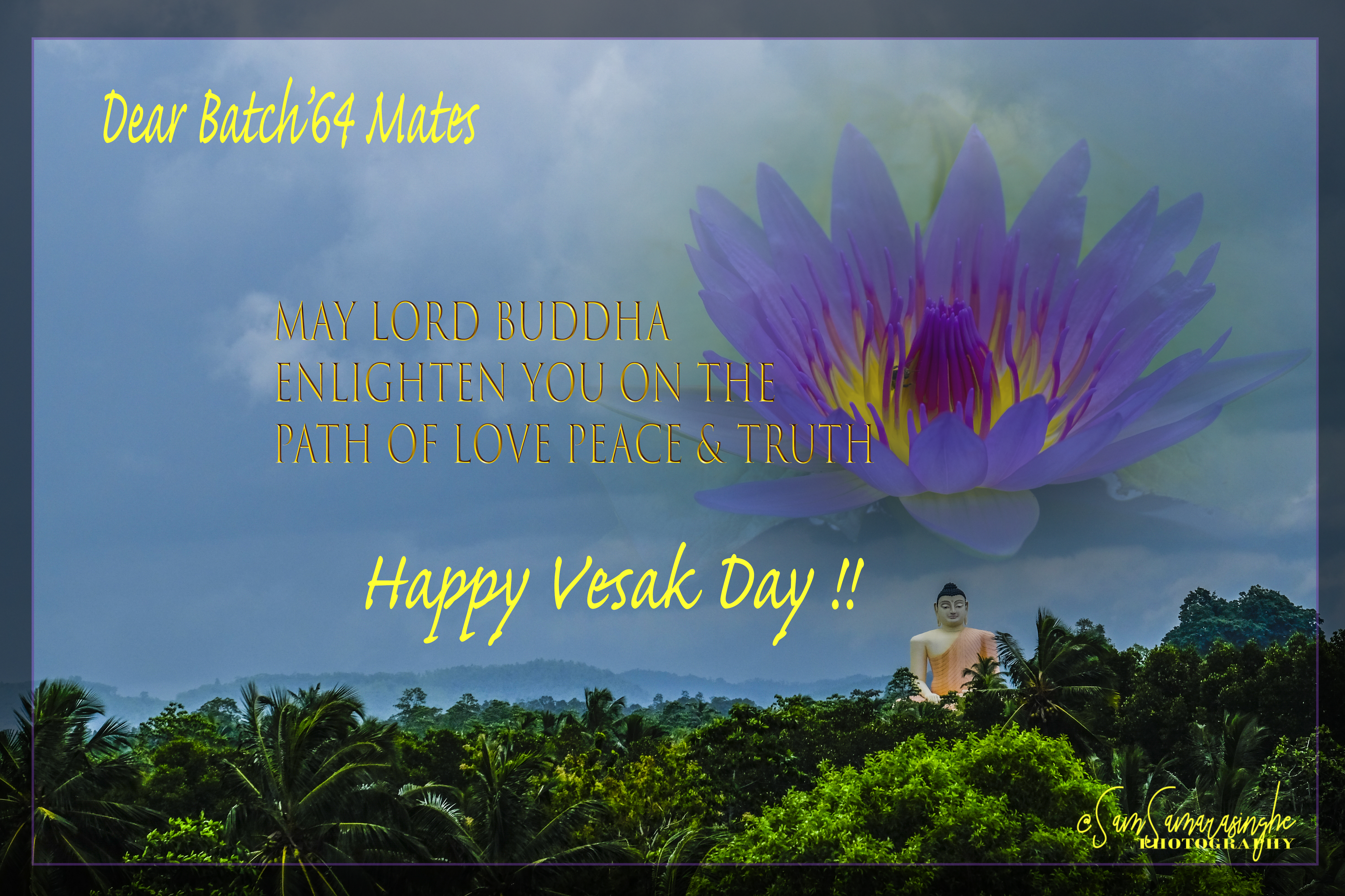 Vesak Greetings News Views And More From The Class Of 64