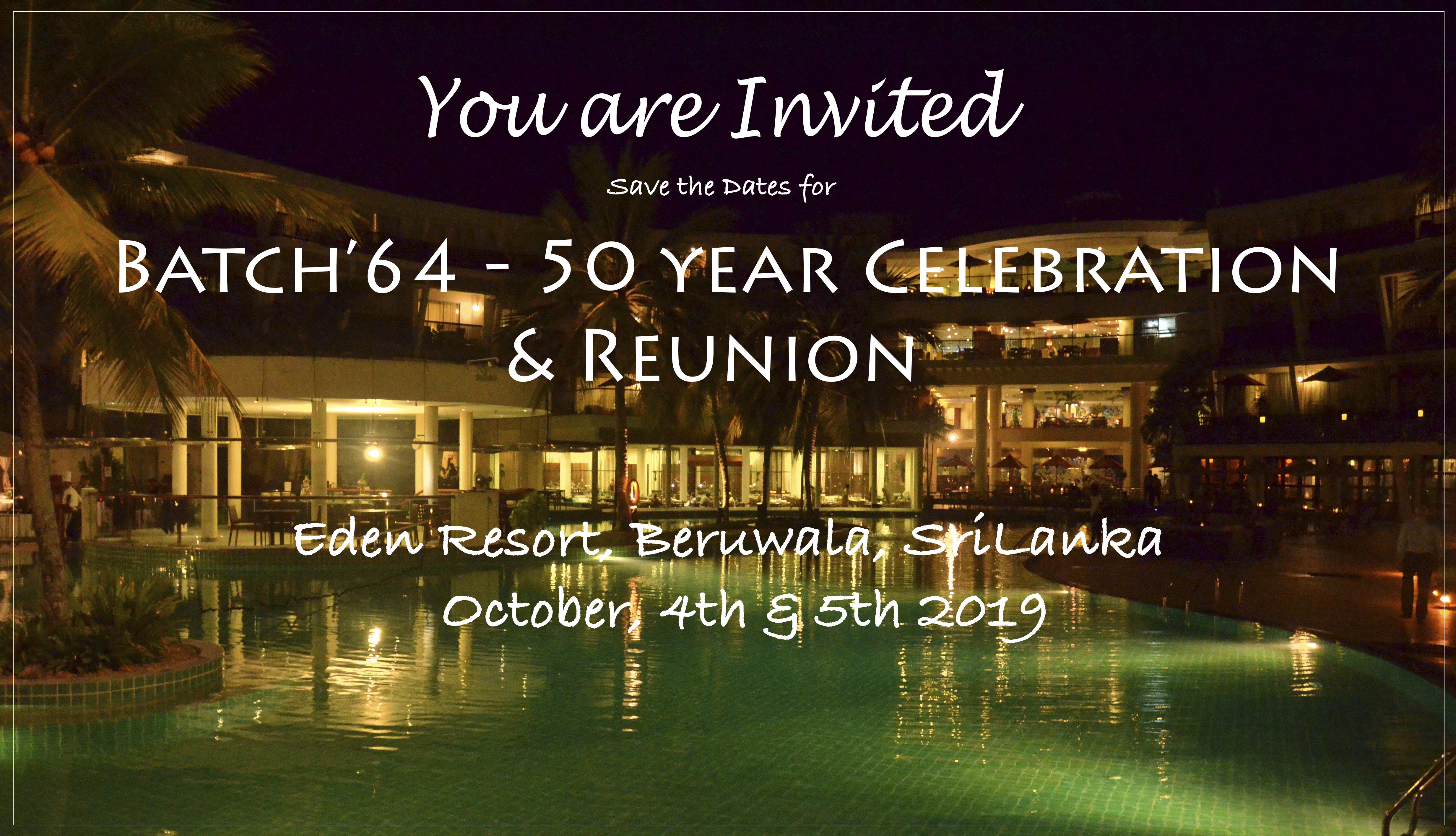 RU'64 '19 Invitation